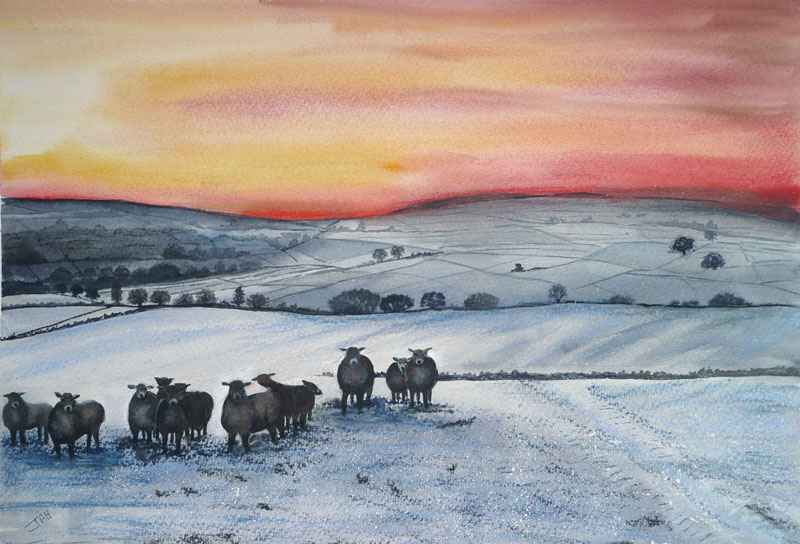 Waiting for Christmas Dinner Giclee print and cards available