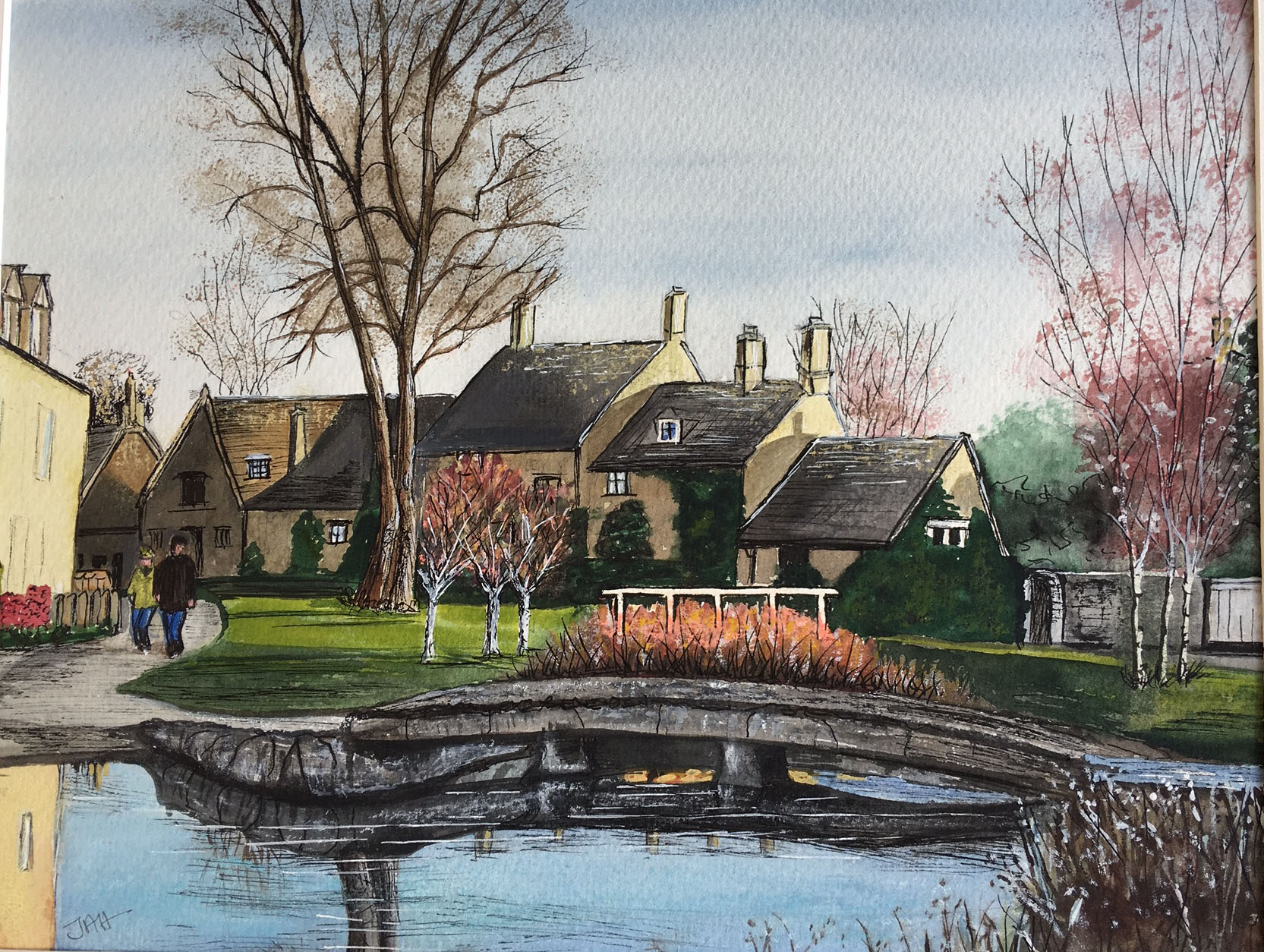 Lower Slaughter, evening. Giclee print and cards available.