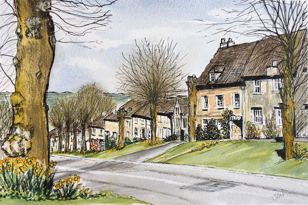 Burford High Street. SOLD but giclee print and cards  available